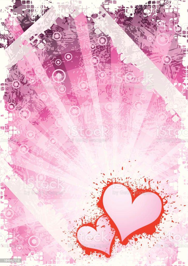 Abstract grunge valentine background vector art illustration