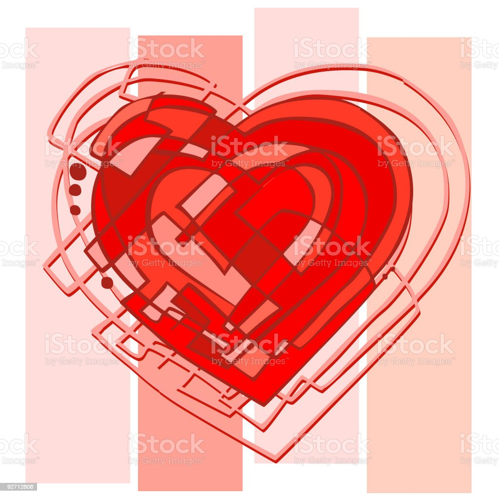 Abstract Heart royalty-free stock vector art