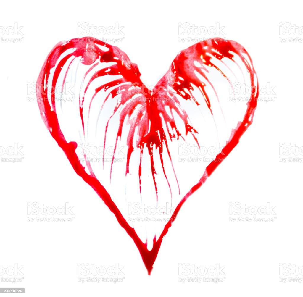 Soyut Kalp Güzel Suluboya Etkileri Yaptı Tıp Sağlık Ve Sevgi Kavramı