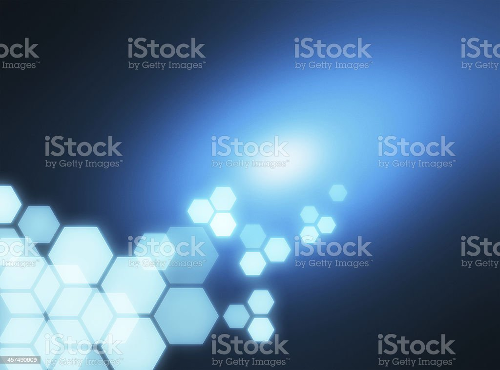 Abstract hexagons blue background royalty-free stock vector art