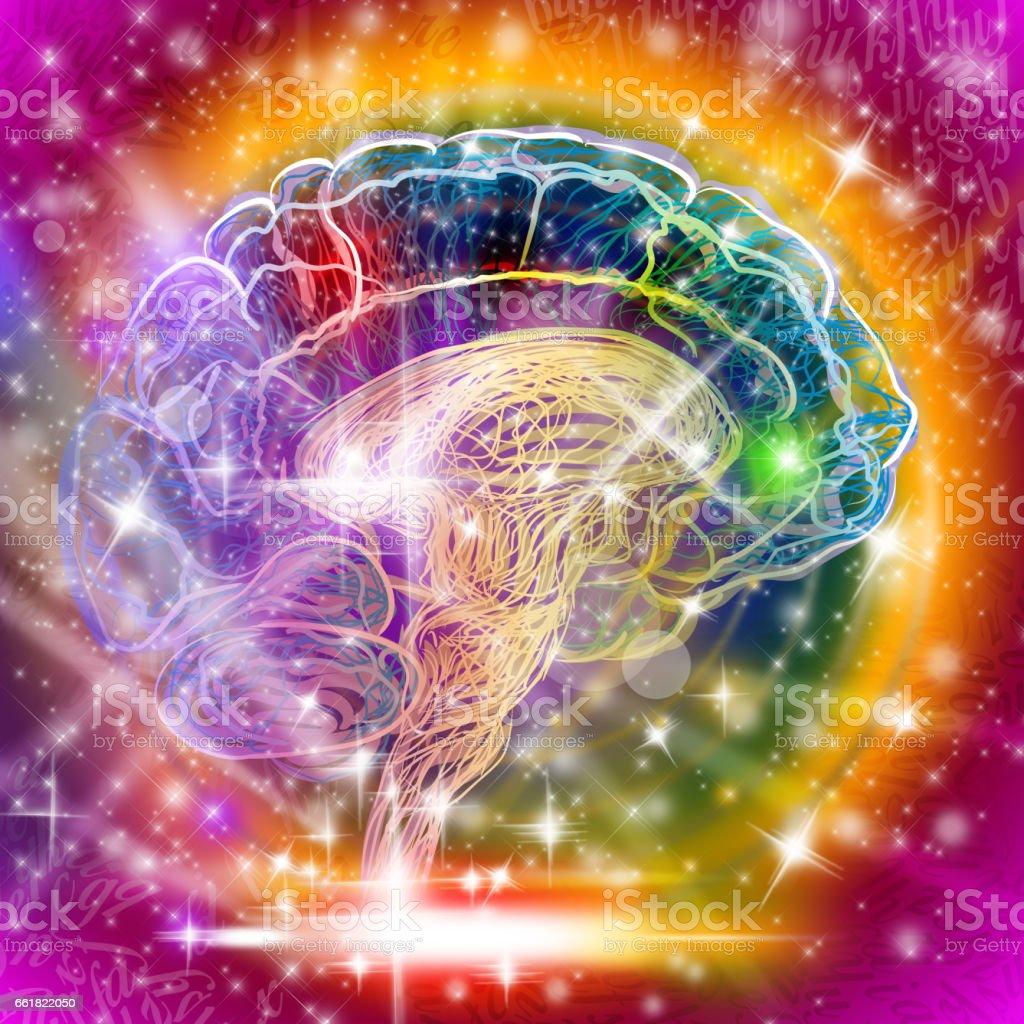 Abstract Human Brain illustration vector art illustration