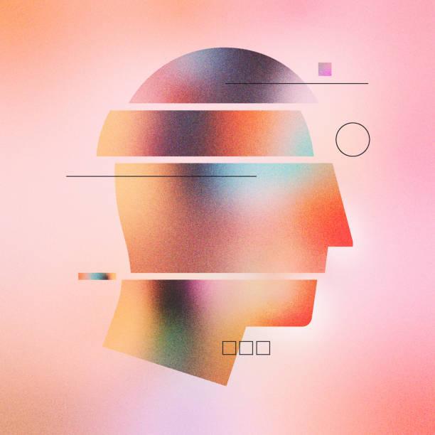 Abstract Human Head Infographic Illustration vector art illustration