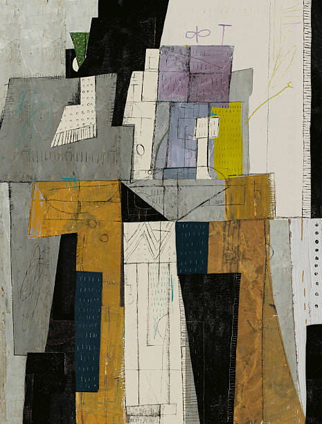 Abstract Abstract, which consists of a plurality of figures modern art stock illustrations