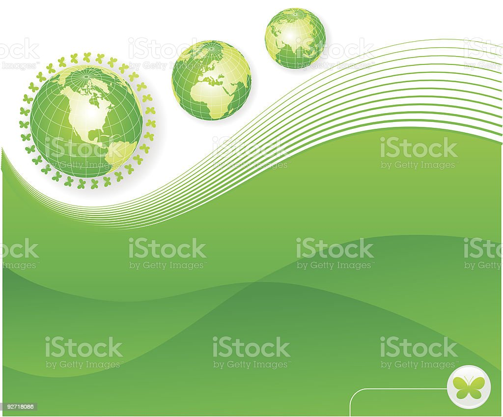 Abstract illustration with globe royalty-free stock vector art