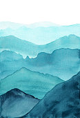 istock abstract indigo blue watercolor waves mountains on white background 1201669107