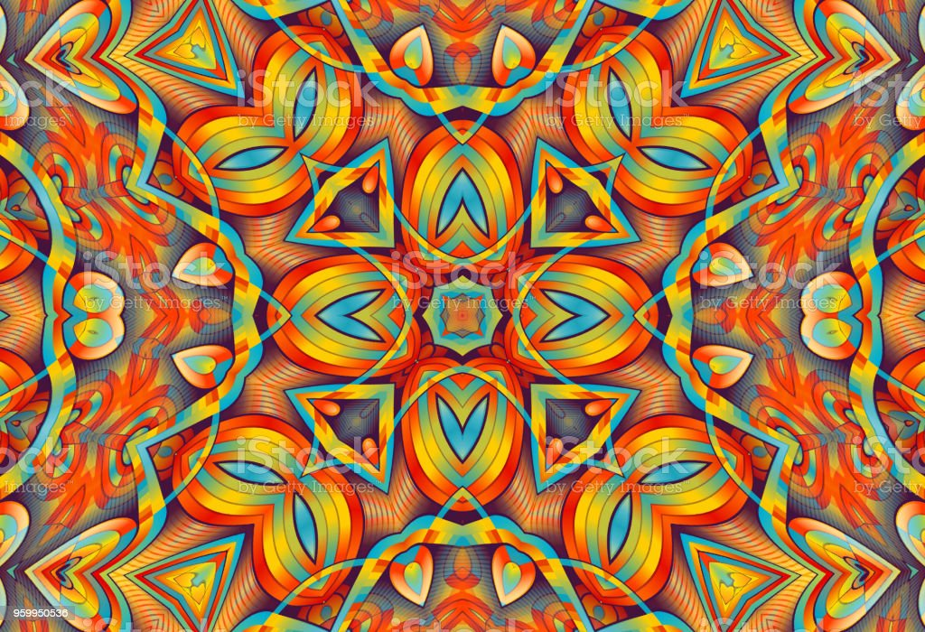 Abstract kaleidoscope background. vector art illustration