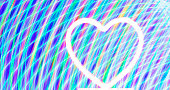 istock Abstract light image using multiple color filters with heart shape light. 1298880576
