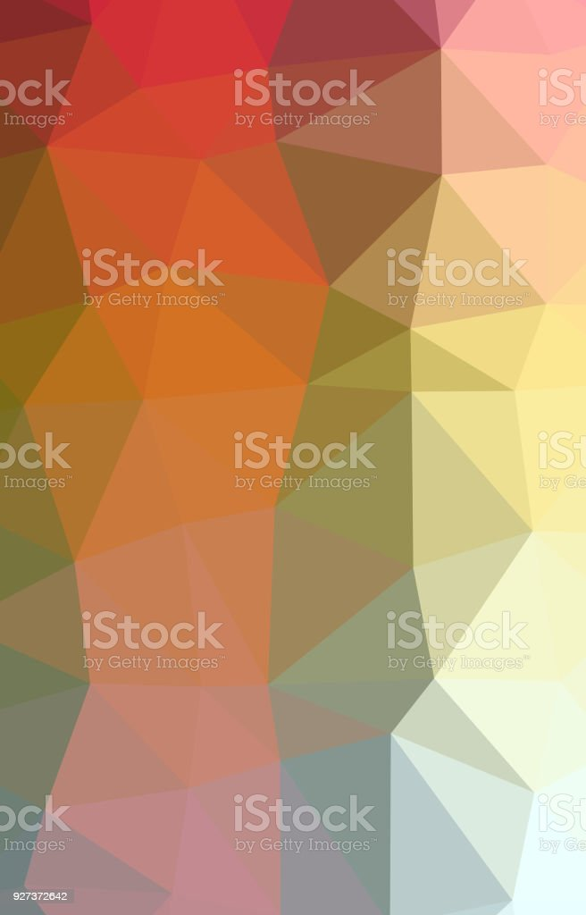 Abstract Low-Poly Triangular Modern Geometric Background - Royalty-free Abstract stock illustration