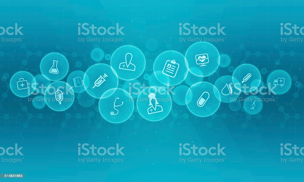 Abstract medical and science background vector art illustration