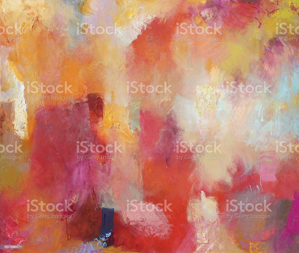 abstract mixed media on canvas vector art illustration