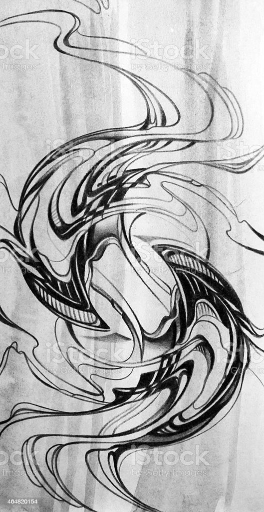 Connu Arrièreplan Abstrait Moderne Graphique De Dessin à La Main Dessin  LA09