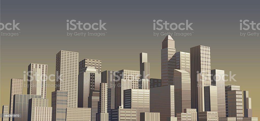 Abstract modern city royalty-free stock vector art