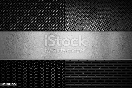 849490554istockphoto Abstract modern grey perforated metal plate texture 831591354