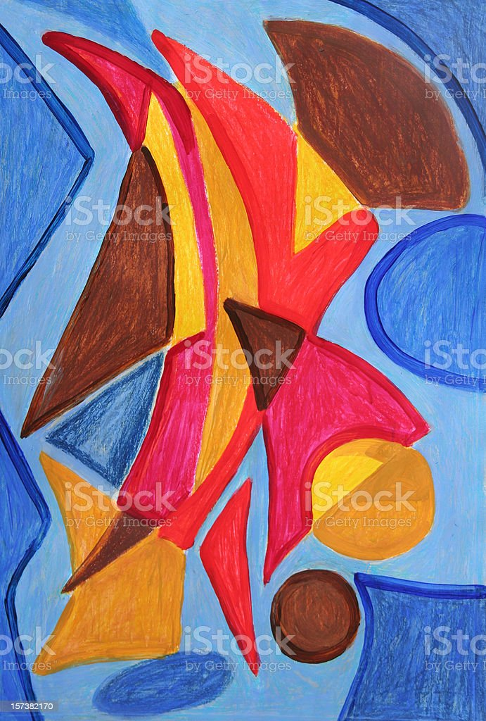 abstract  modern painting royalty-free stock vector art