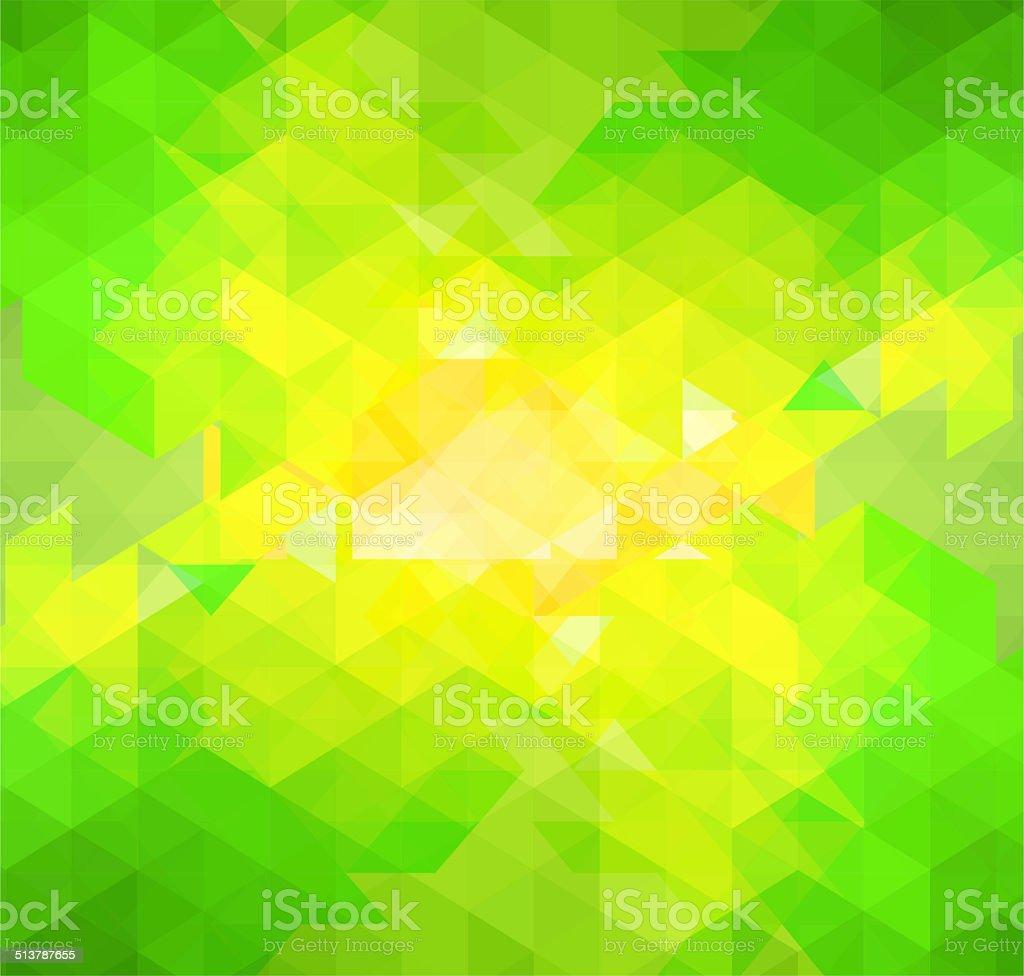 Mosaico Astratto Sfondo Verde E Giallo Immagini Vettoriali Stock E