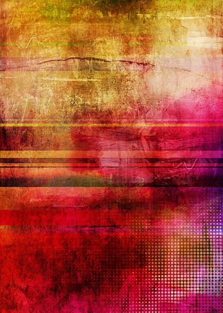 Abstrakte mehrfarbigen retro-Grafik – Vektorgrafik