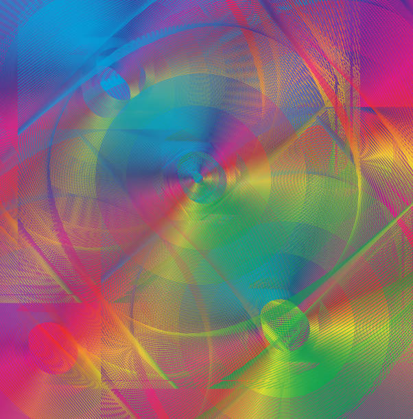 Abstract multicolored background vector art illustration