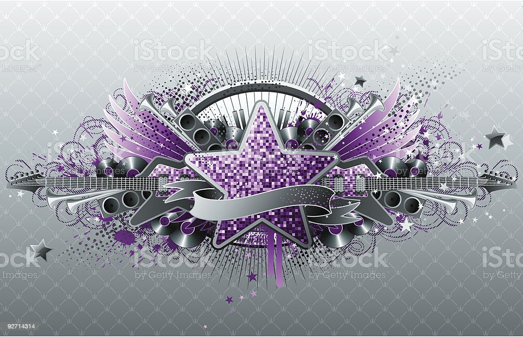 Abstract musical design. royalty-free stock vector art