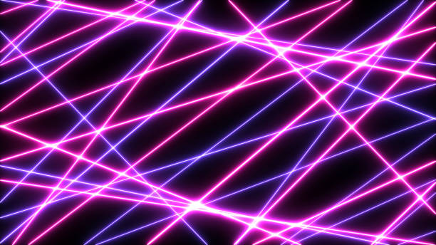 Abstract Neon bright lens flare colored on black background. Laser show colorful design for banners advertising technologies Abstract Neon bright lens flare colored on black background. Laser show colorful design for banners advertising technologies laser stock illustrations