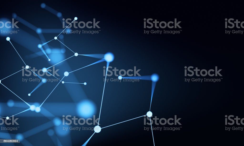 Abstract Network Technology Background vector art illustration