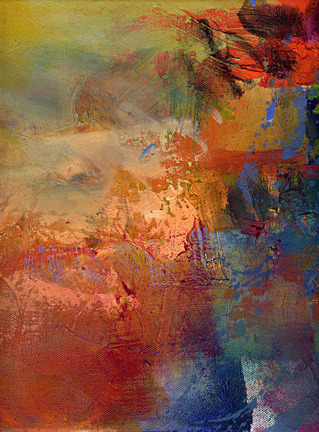 Abstrakte Ölgemälde auf Leinwand – Vektorgrafik