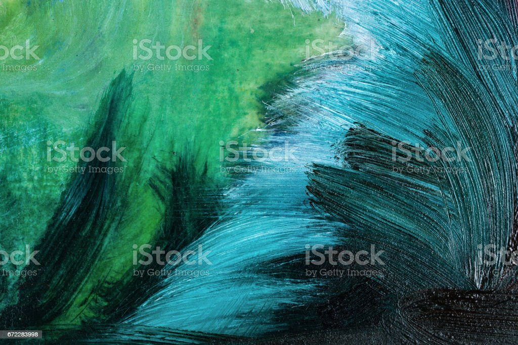 Abstract oil paints vector art illustration