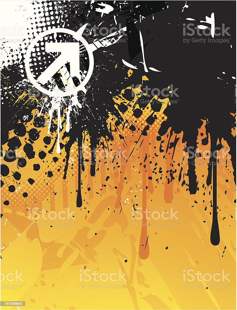 Abstract orange/black background royalty-free abstract orangeblack background stock vector art & more images of abstract