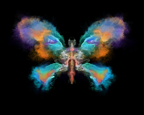 Abstract painted butterfly