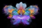 istock Abstract painted flower 1062407972