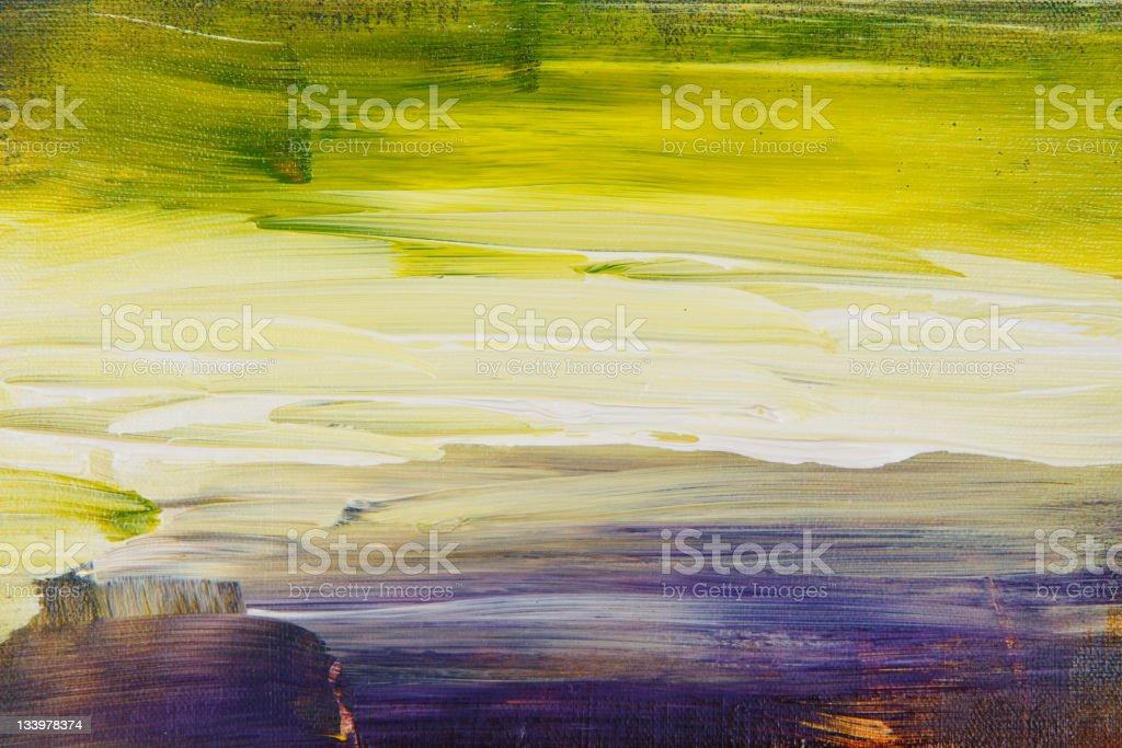 Abstract painted landscape art acrylic vector art illustration