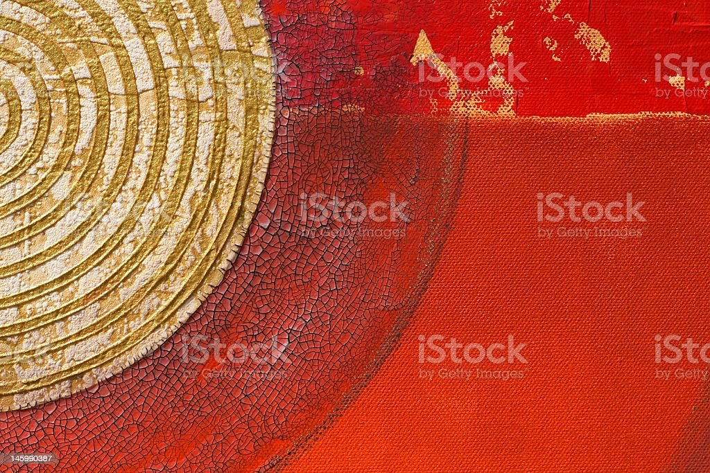 Abstract painted red background-Abstrakter gemalter roter Hintergrund vector art illustration