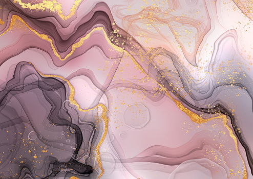 Abstract painting background. Pink and cold ink Colorful modern contemporary digital art.