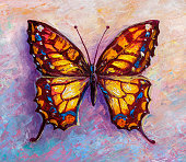 abstract painting Beautiful butterfly
