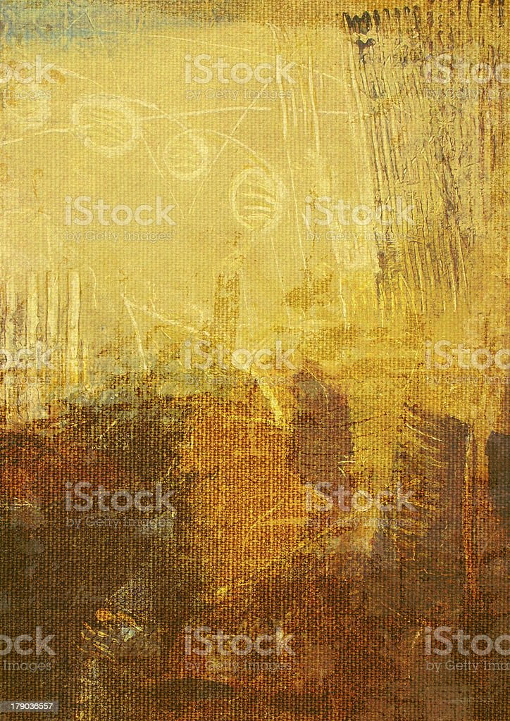 abstract painting on canvas royalty-free stock vector art