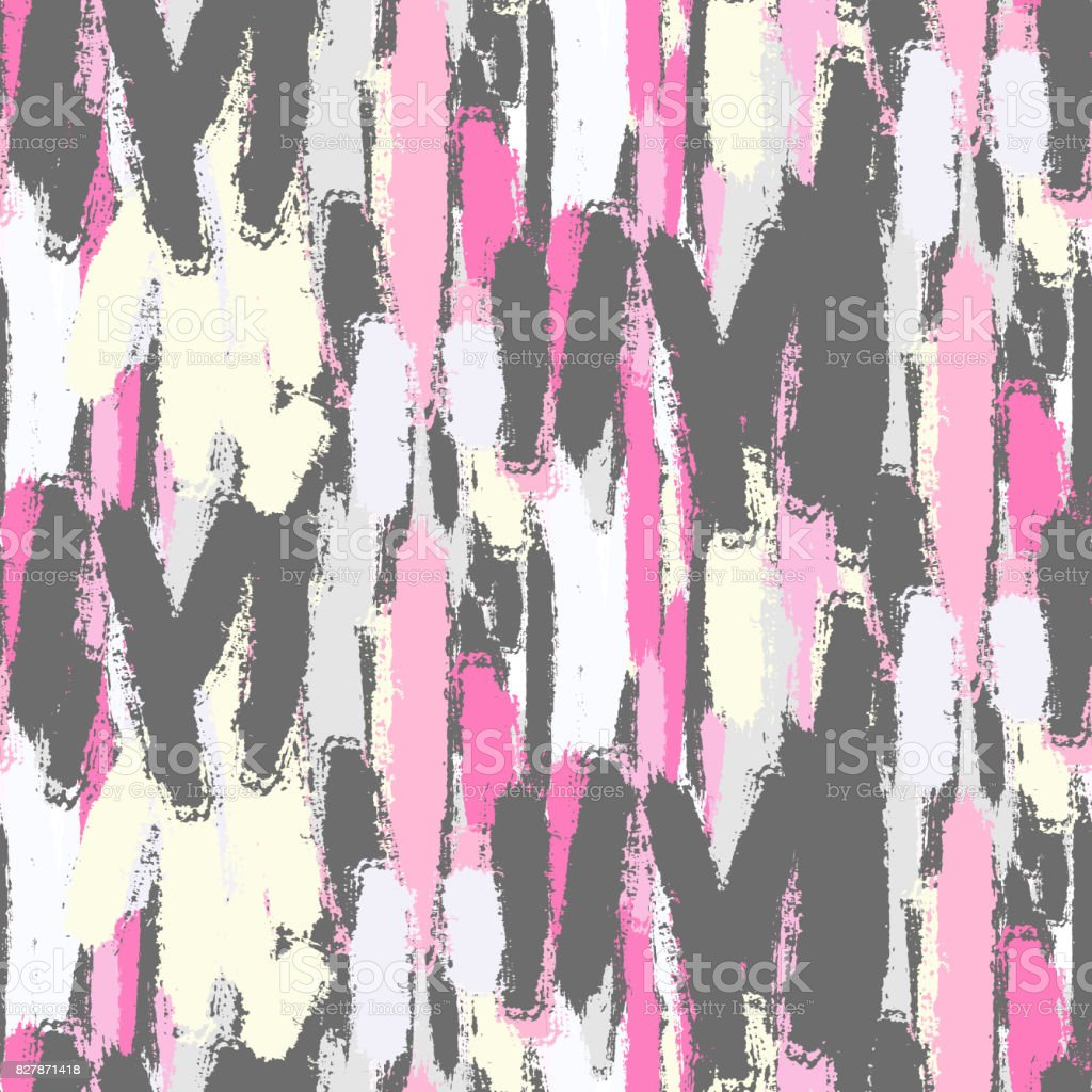 abstract pastel color brush strokes seamless pattern stock vector