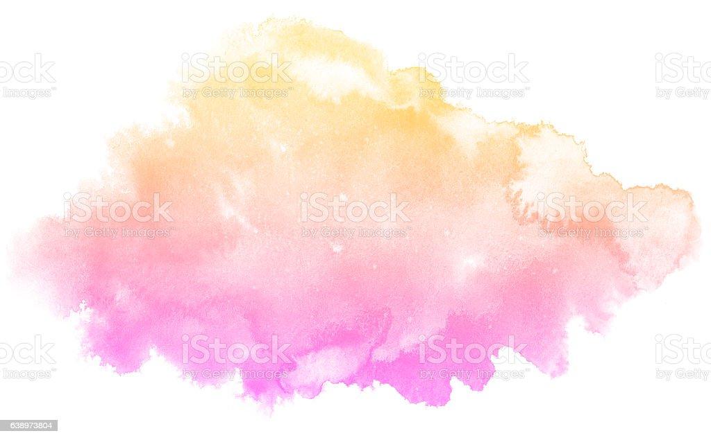 抽象的なピンクの水彩バックグラウンド ベクターアートイラスト
