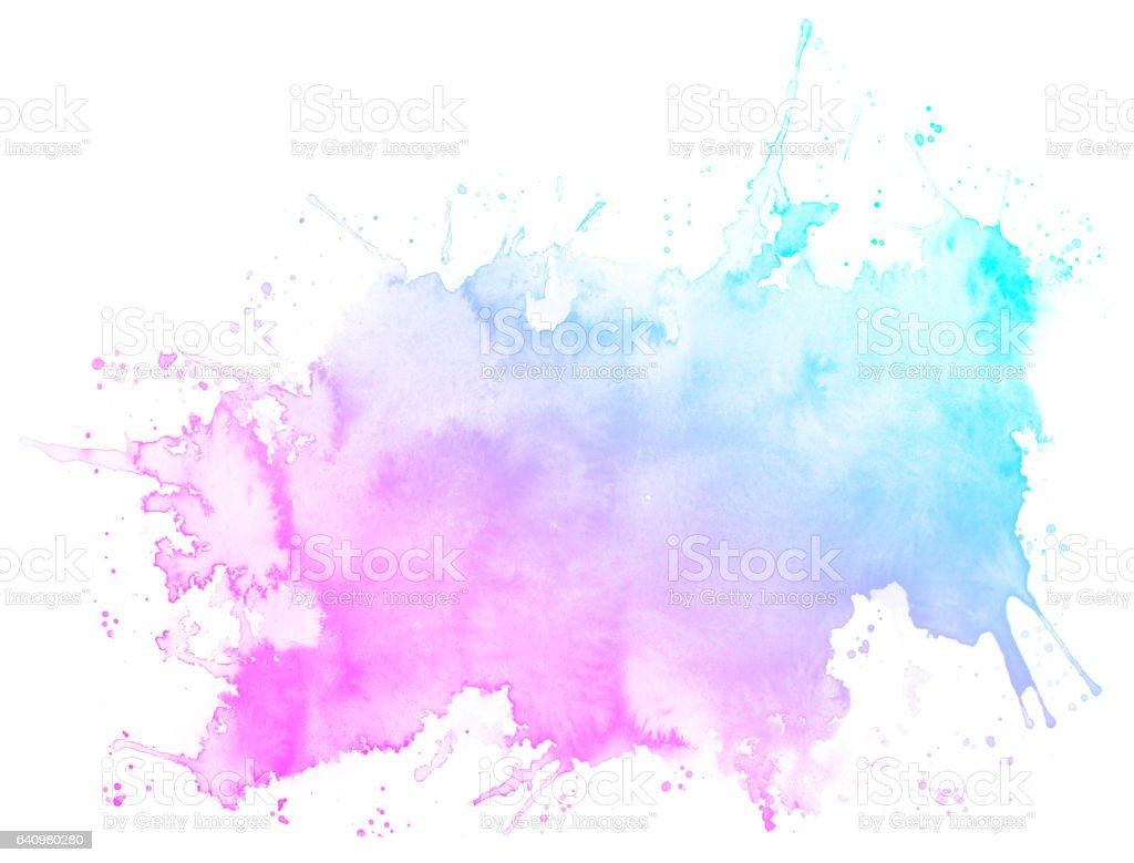 Rosa abstracto acuarela de fondo. - ilustración de arte vectorial