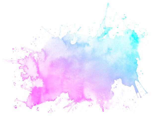 abstract pink watercolor background. - watercolor background stock illustrations, clip art, cartoons, & icons