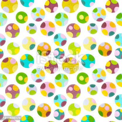 istock Abstract plant crayons hand draw illustrations. Seamless pattern. 1311635174