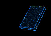 Abstract polygonal light design of book