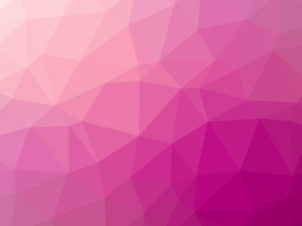 Abstract polygonal pink background vector art illustration