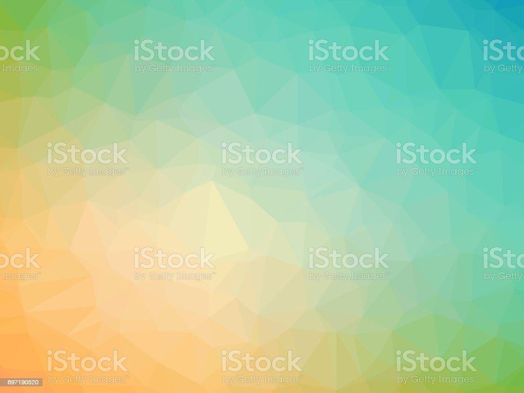 Fondo abstracto verde azulado amarillo poligonal - ilustración de arte vectorial