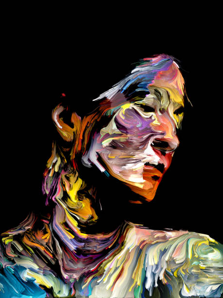 Abstract Portrait vector art illustration
