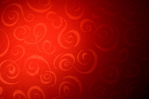 Abstract - Red Swirly Background vector art illustration