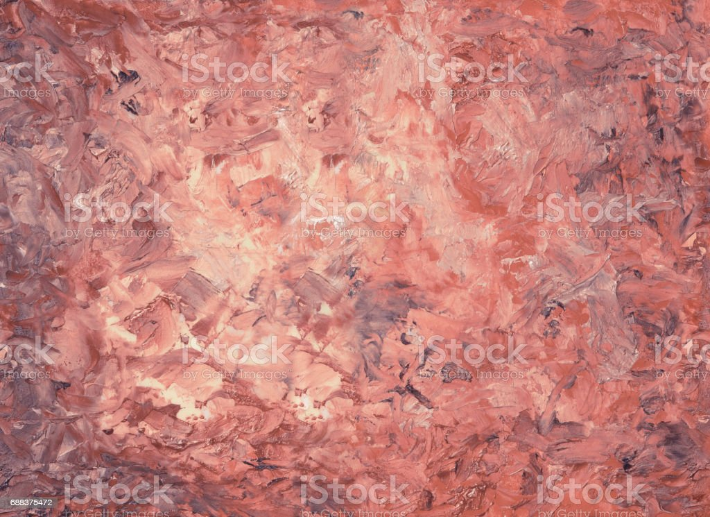 Abstract red vintage oil paint on canvas background. Art concept. Palette knife painting. vector art illustration