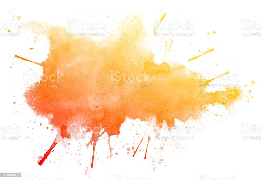 Abstrata vermelha aquarela sobre fundo branco. - ilustração de arte em vetor