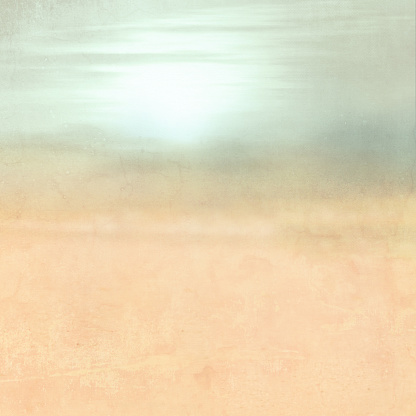 Abstract retro landscape background gradient in watercolor style with soft grunge texture