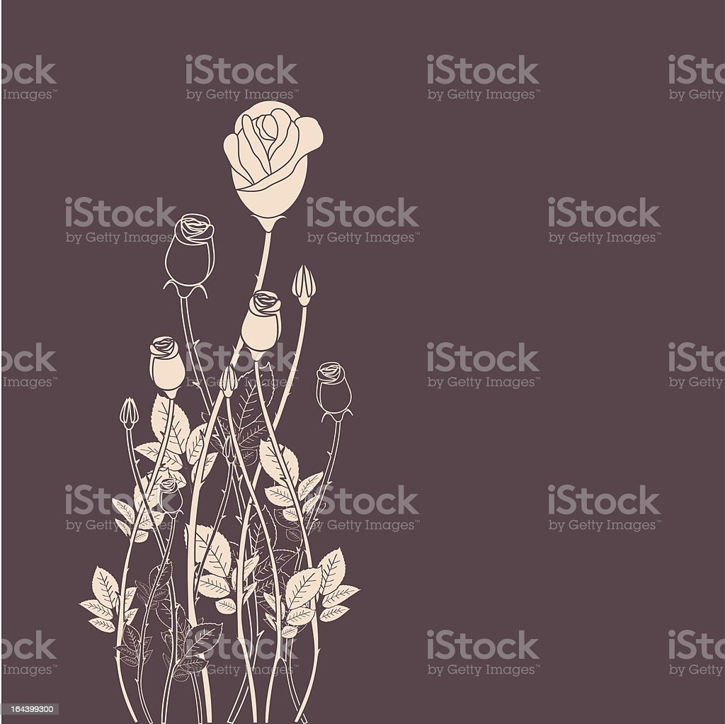 Abstract rose flower background royalty-free stock vector art