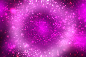 Abstract scene in universe. Abstract gradient dark violet to light pink purple space cosmos universe background with white stars and planets. Space for your design. Concept astrology an science.