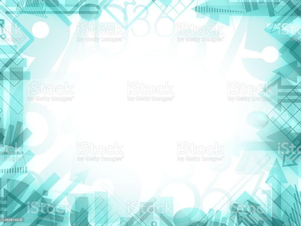 Abstrakte Science Analyse Hintergrundframe Stock Vektor Art und mehr ...